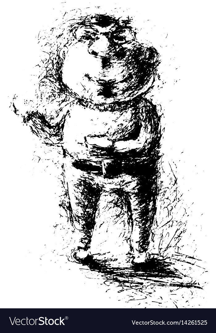 Funny sketched man vector image