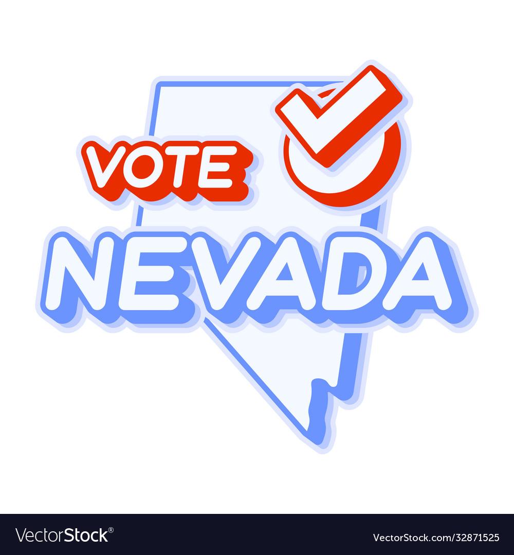 Presidential vote in nevada usa 2020 state map