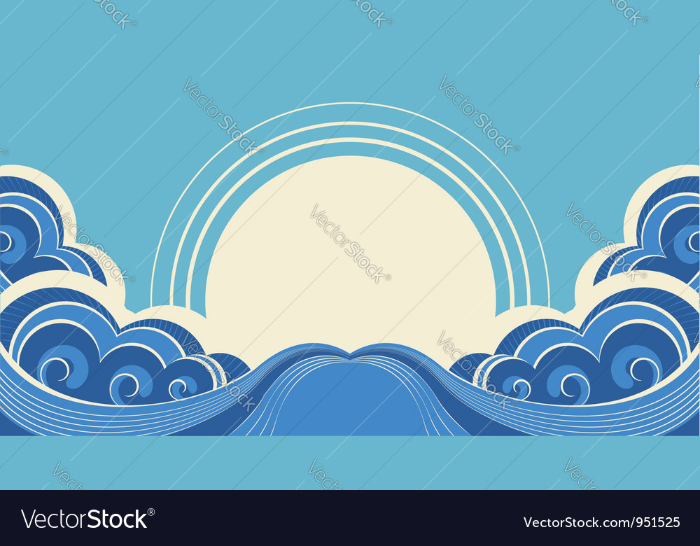 Sea waves and sunAbstract nature image