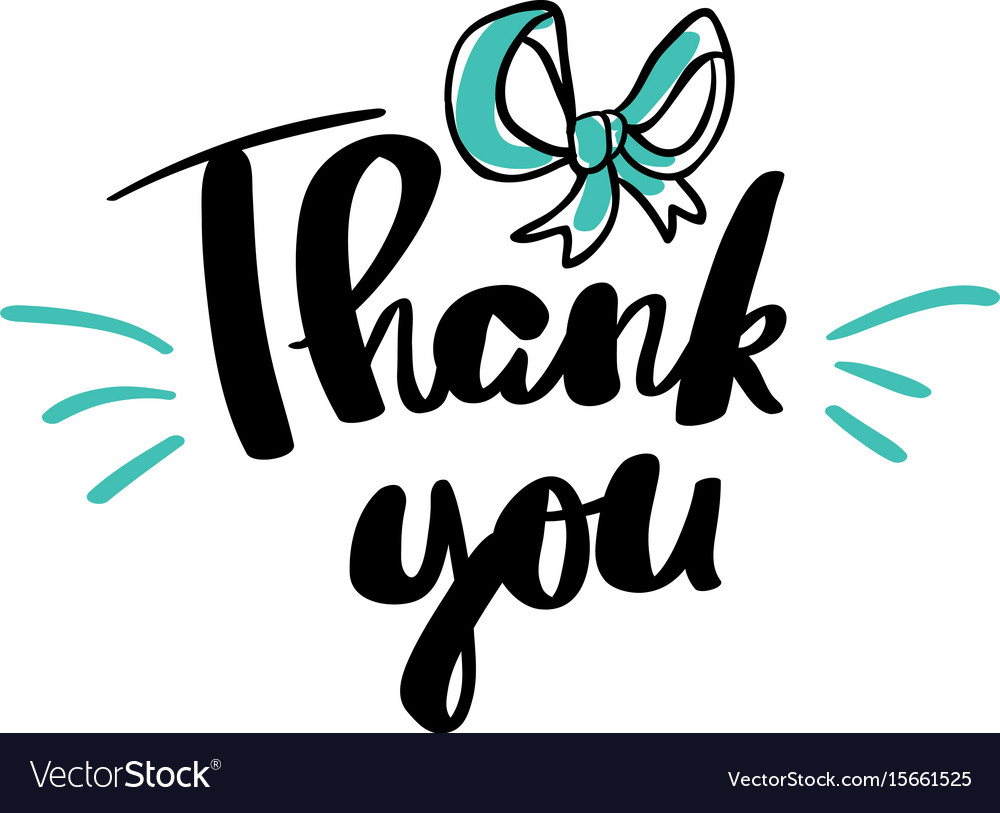 Thank you lettering for posters vector image