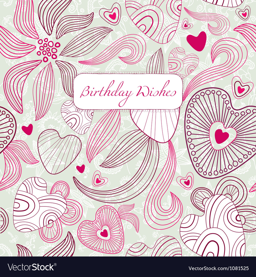 Vintage Floral Birthday Card