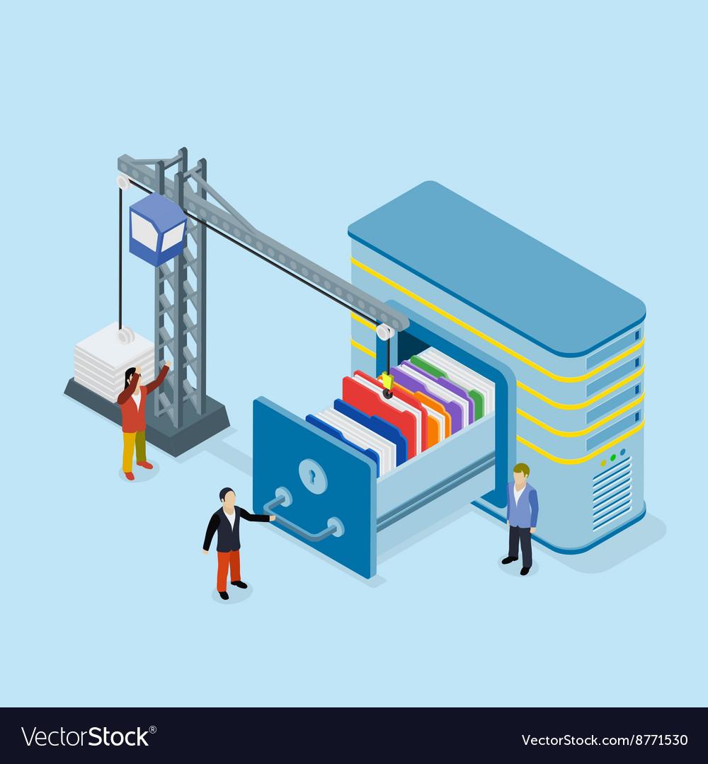 Database storage vector image