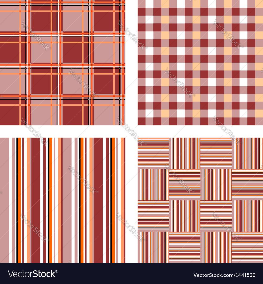 Design seamless pattern set vector image
