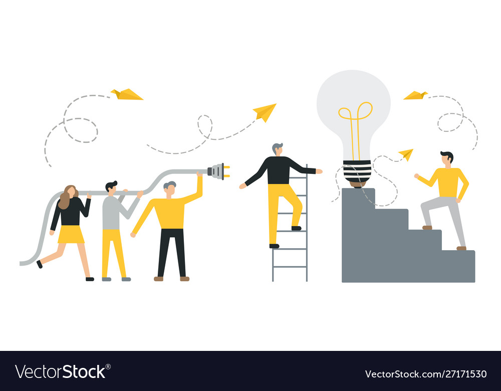 Flat business concept success