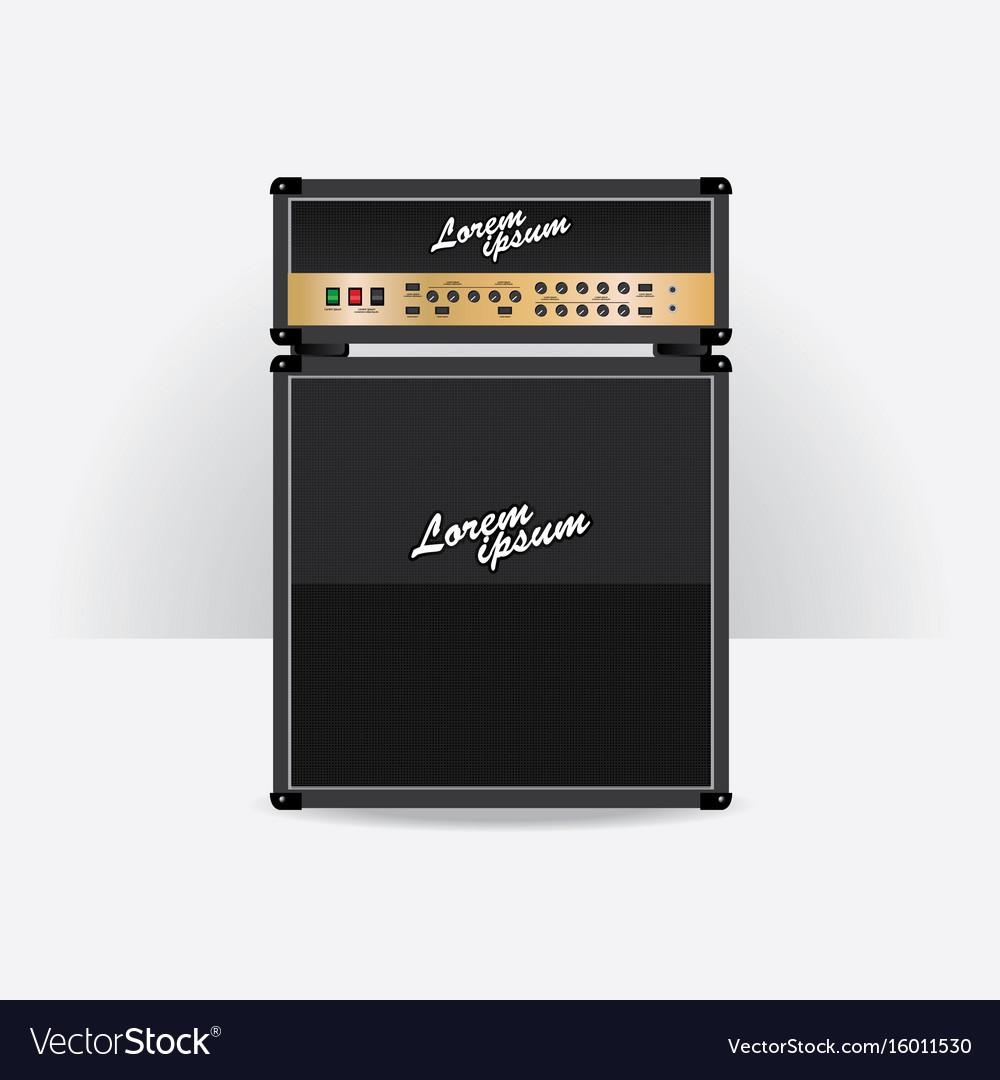 Guitar amplifier set vector image