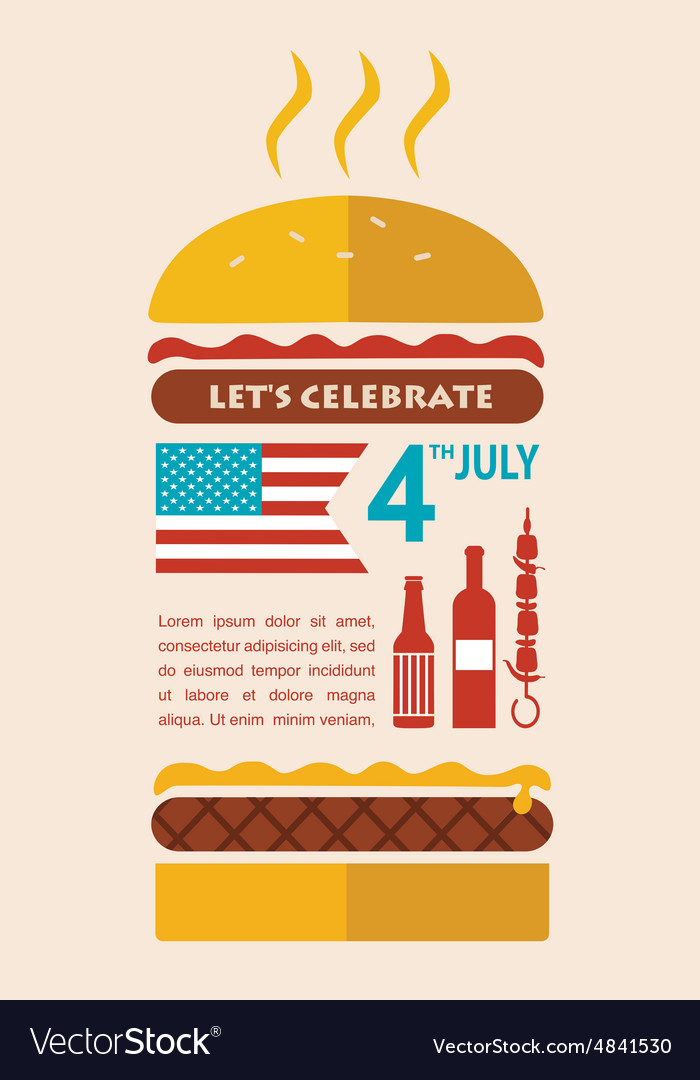 Happy independence day america card or