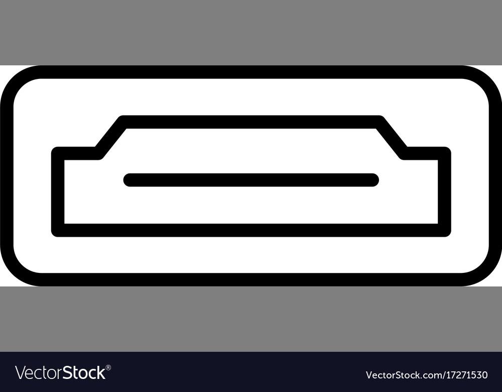 hdmi icon royalty free vector image vectorstock vectorstock