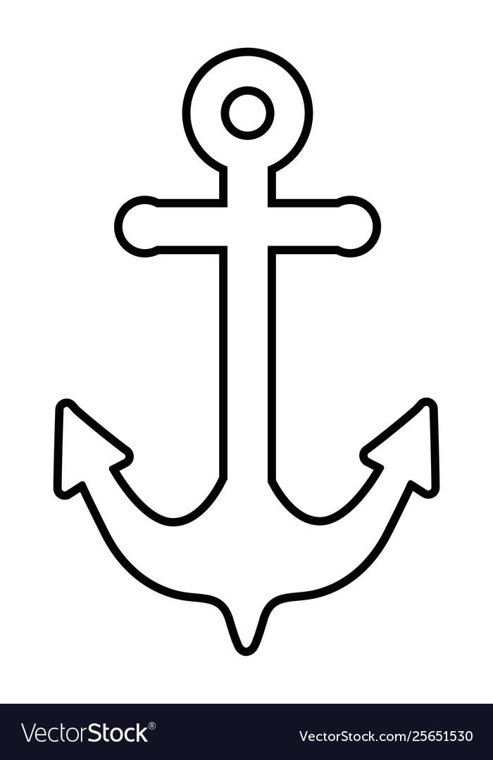 Marine steel heavy anchor cartoon