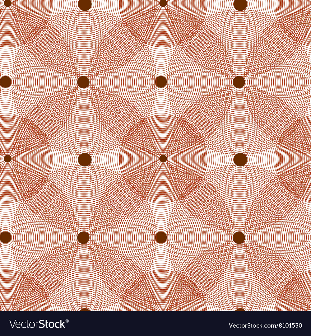 The pattern of red lace circles vector image