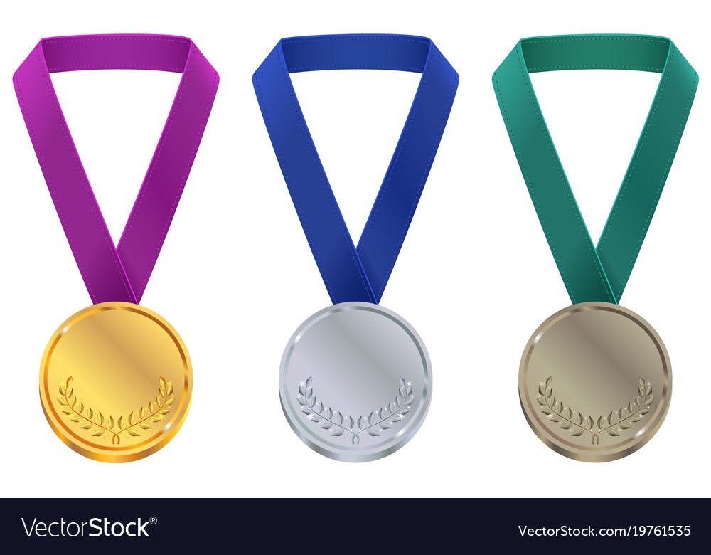 Gold silver and bronze medal at winter olympic