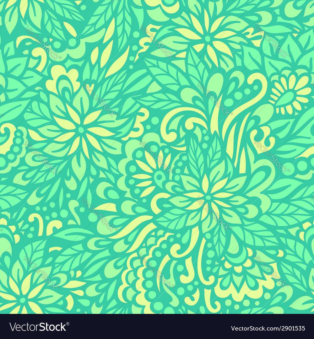 Green meadow seamless decorative pattern