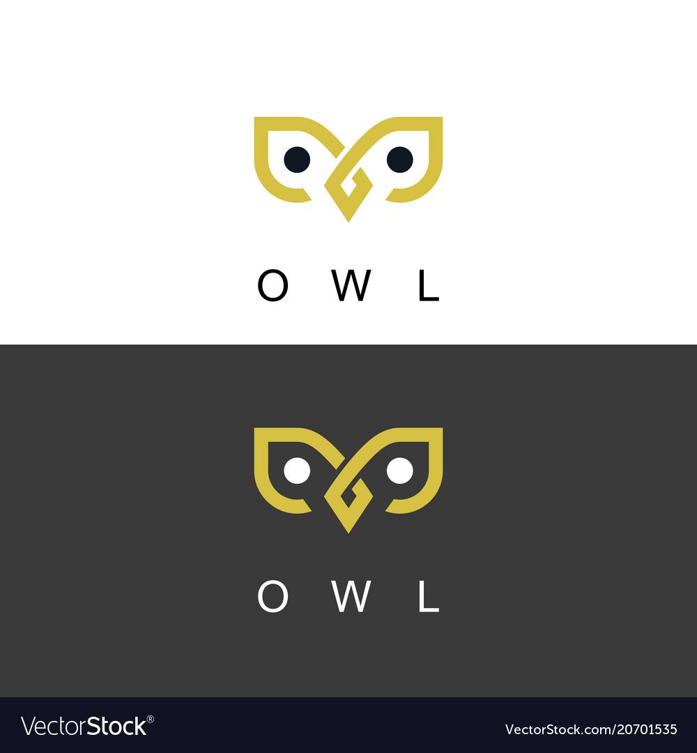 Owl logo vector image