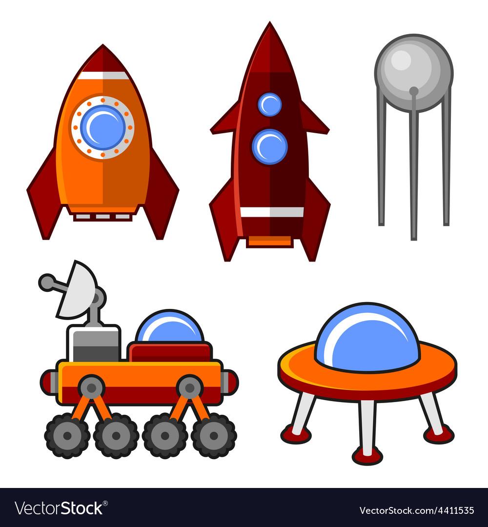 Spaceships Icons Set