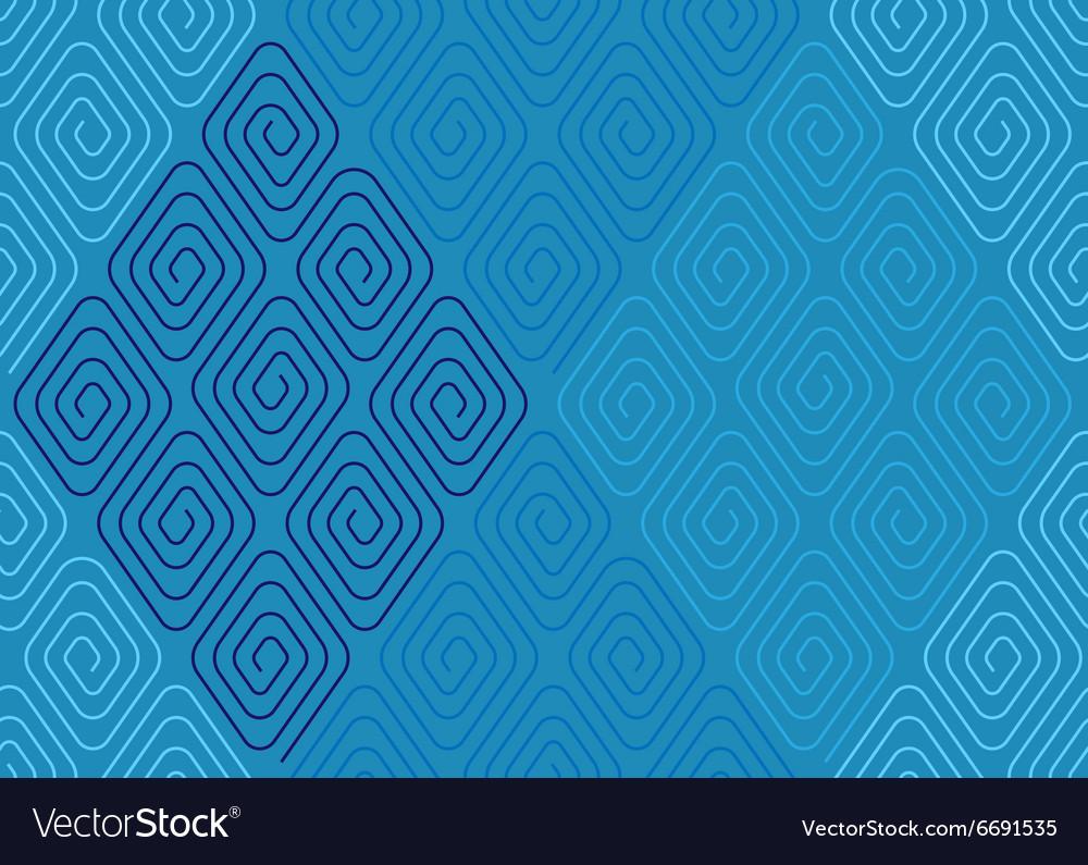 Spiral pattern blue
