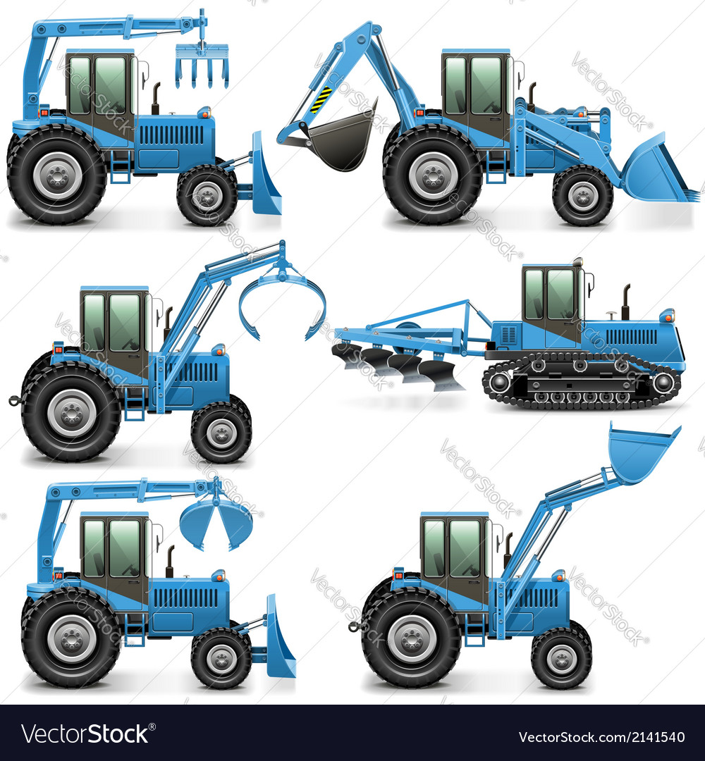 Agricultural Tractor Set 3