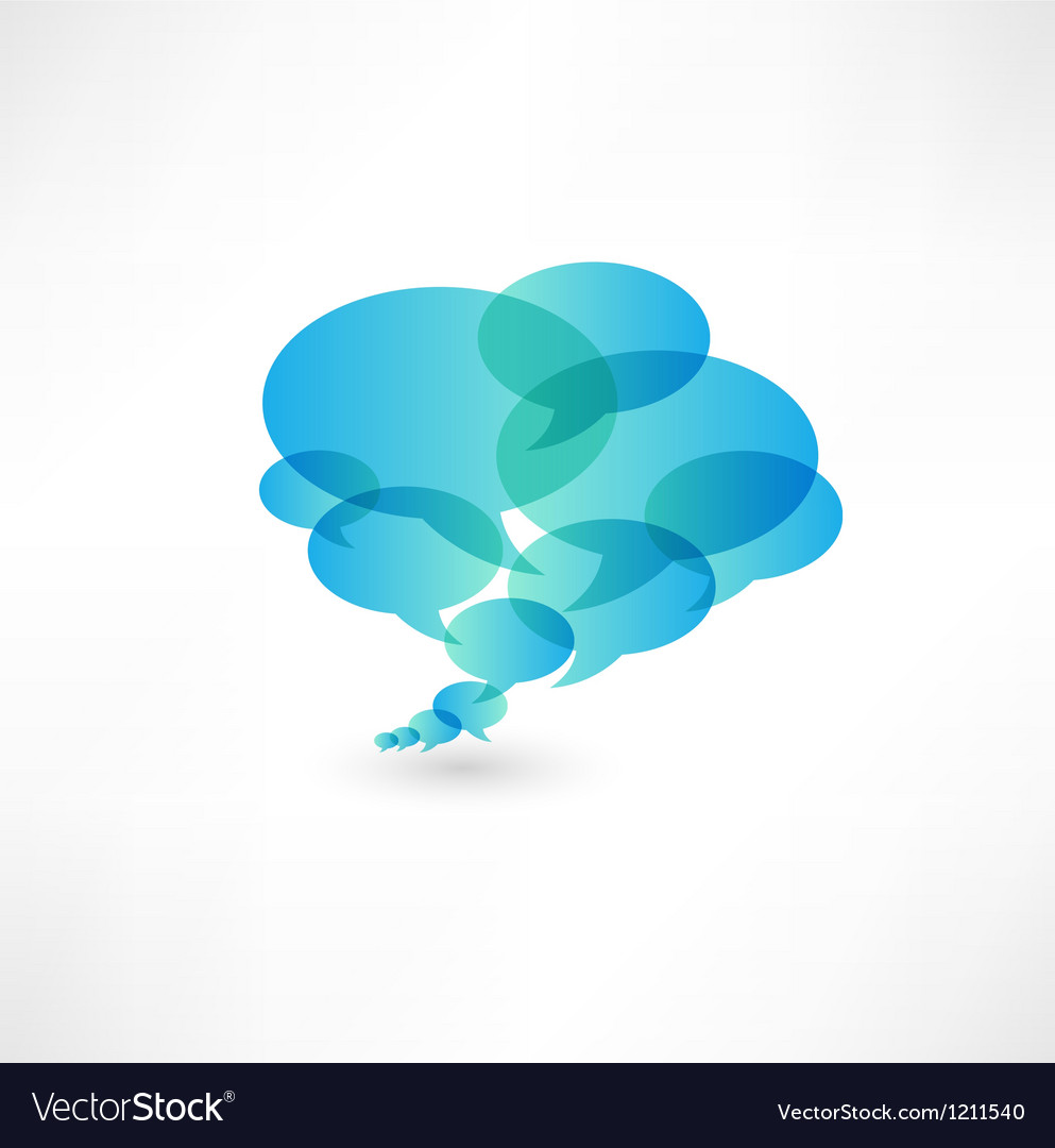 Bubbles icon vector image