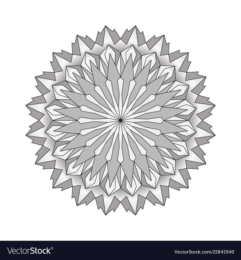 Grayscale circular round simple mandala
