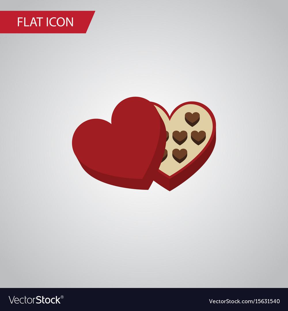 Isolated chocolate flat icon shaped box vector image