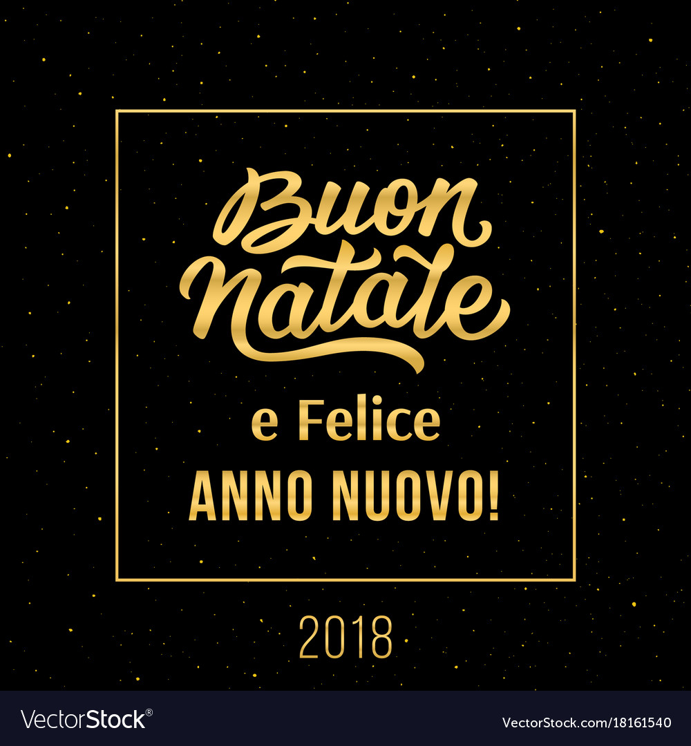 merry christmas and happy new year in italian vector image