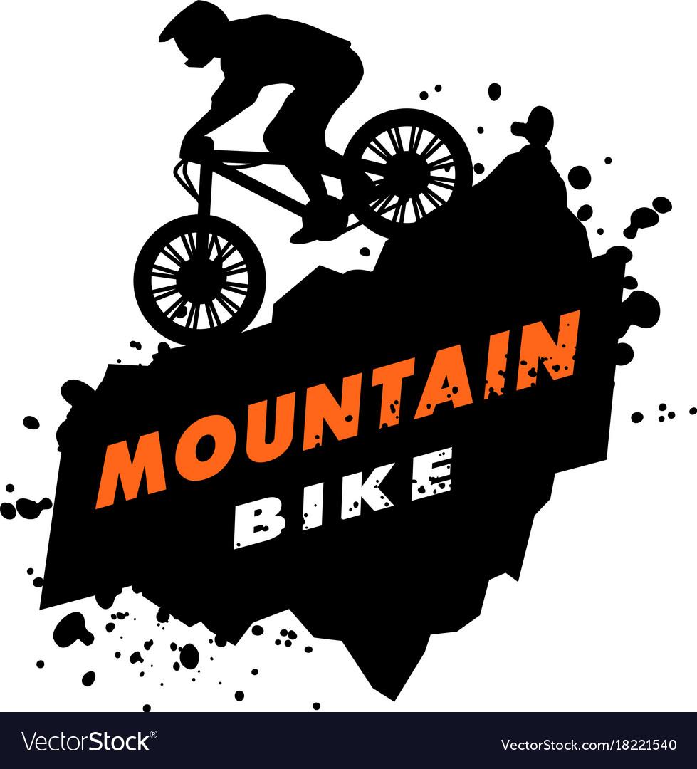 Mountain Bike Trials Emblem Royalty Free Vector Image