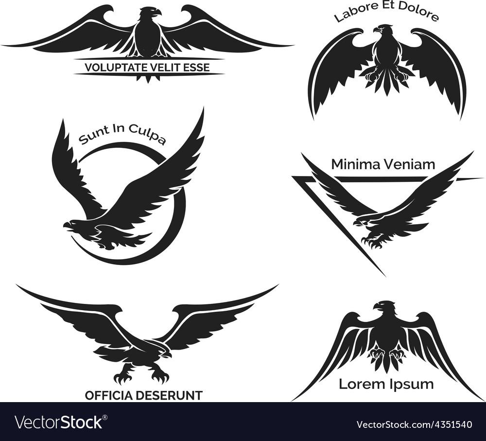 set of eagle logo royalty free vector image vectorstock