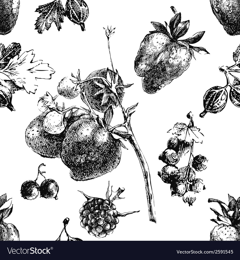 Berry seamless vector image