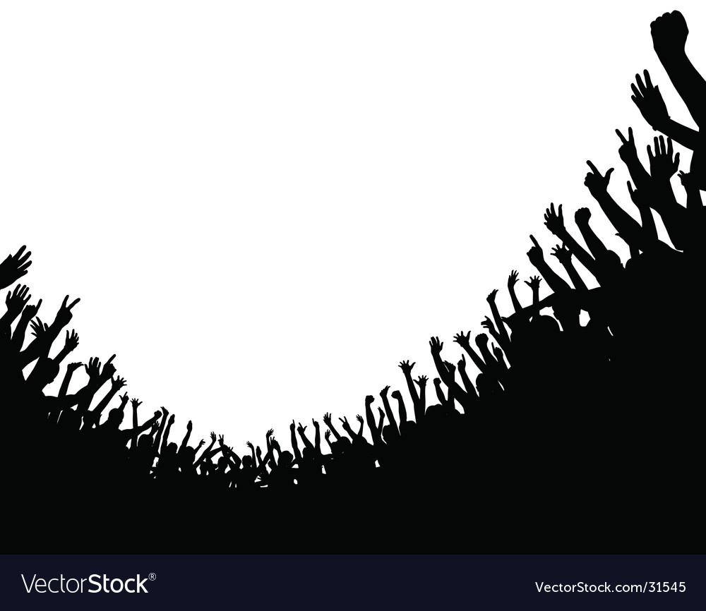 Crowd foreground vector image