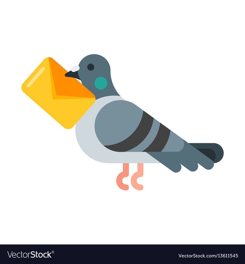 Flat style of post pigeon