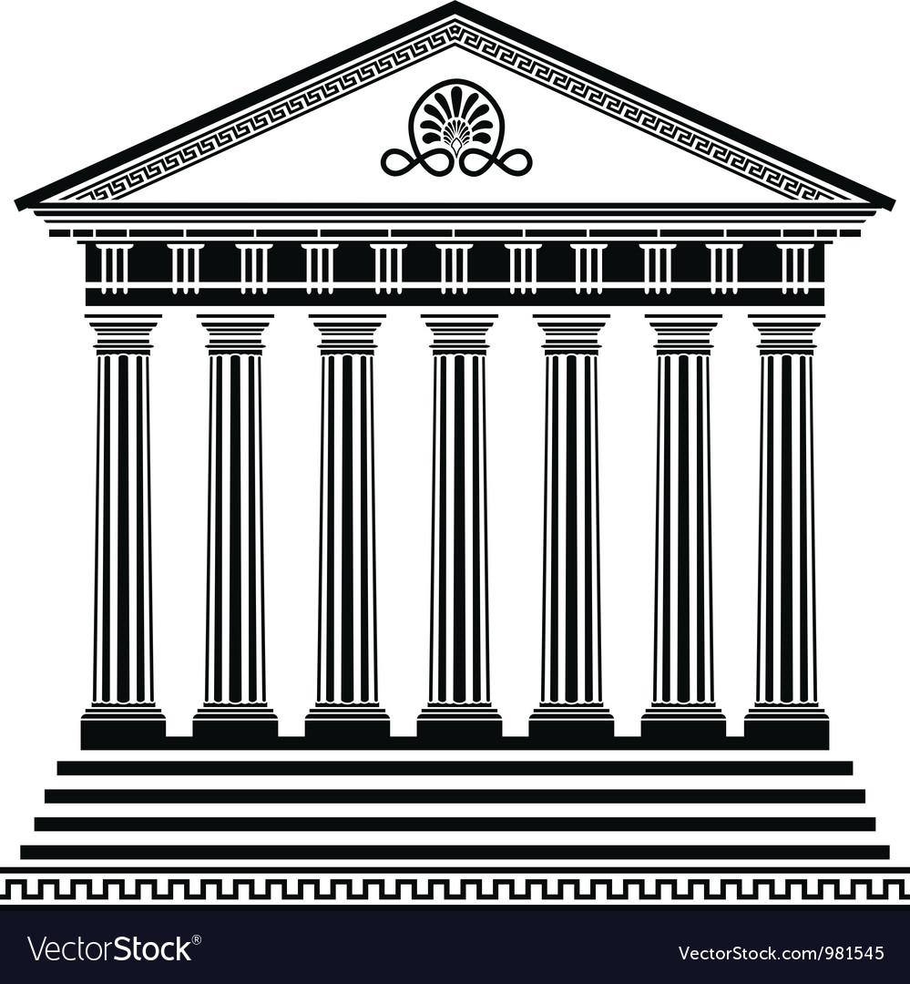 Greec temple2 vector image