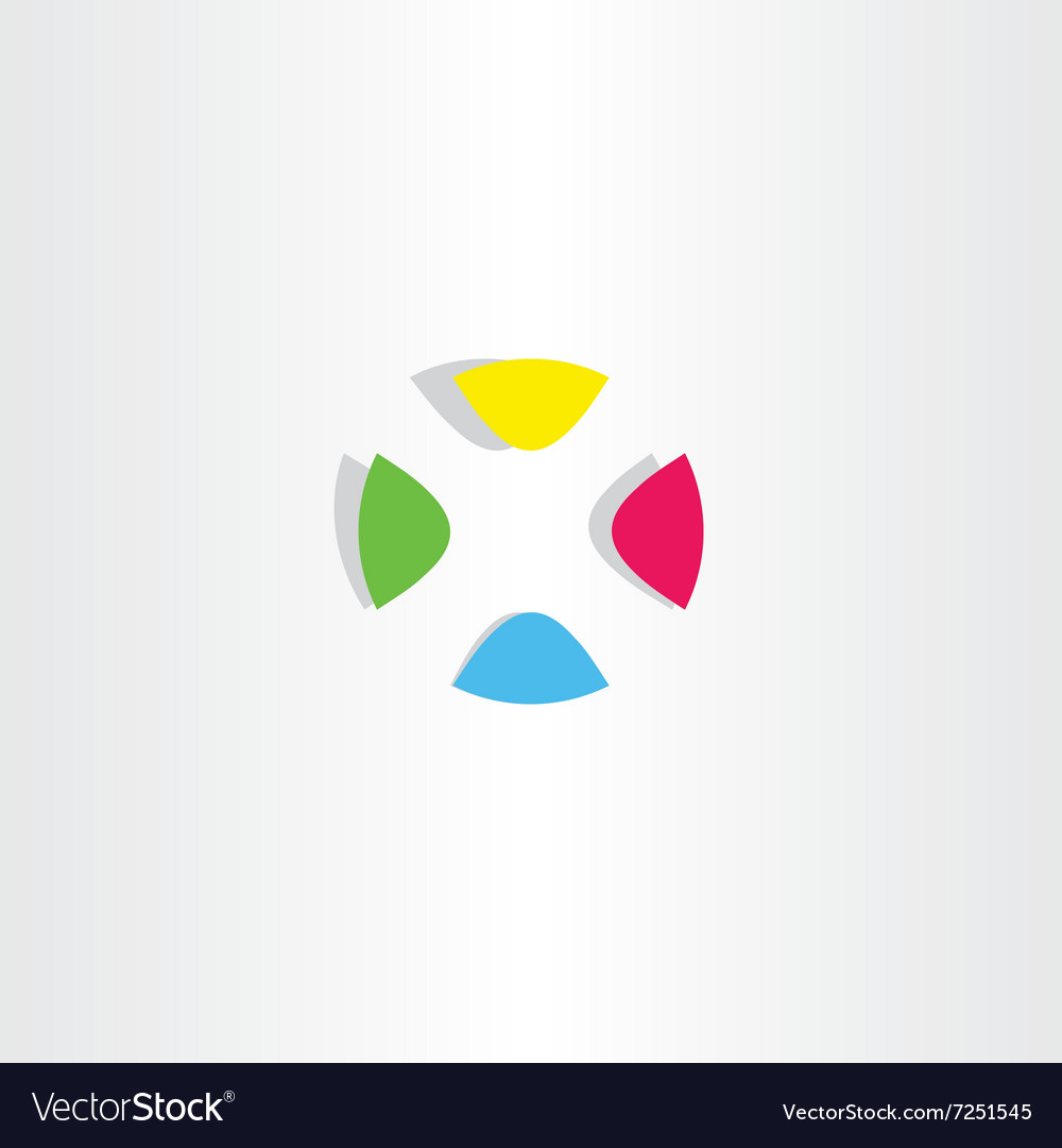 Letter x logo x colorful circle icon