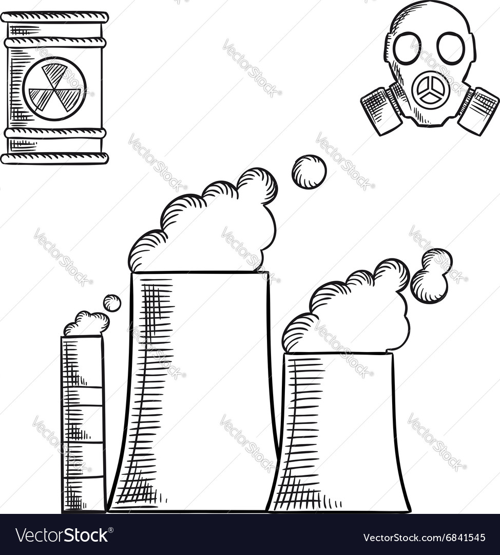 Pollution and destruction of environment vector image