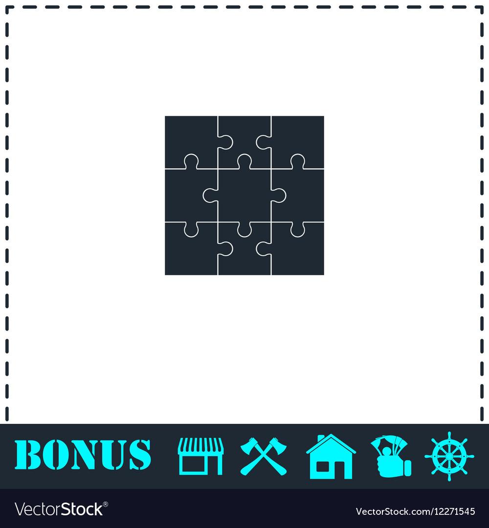 Puzzles icon flat