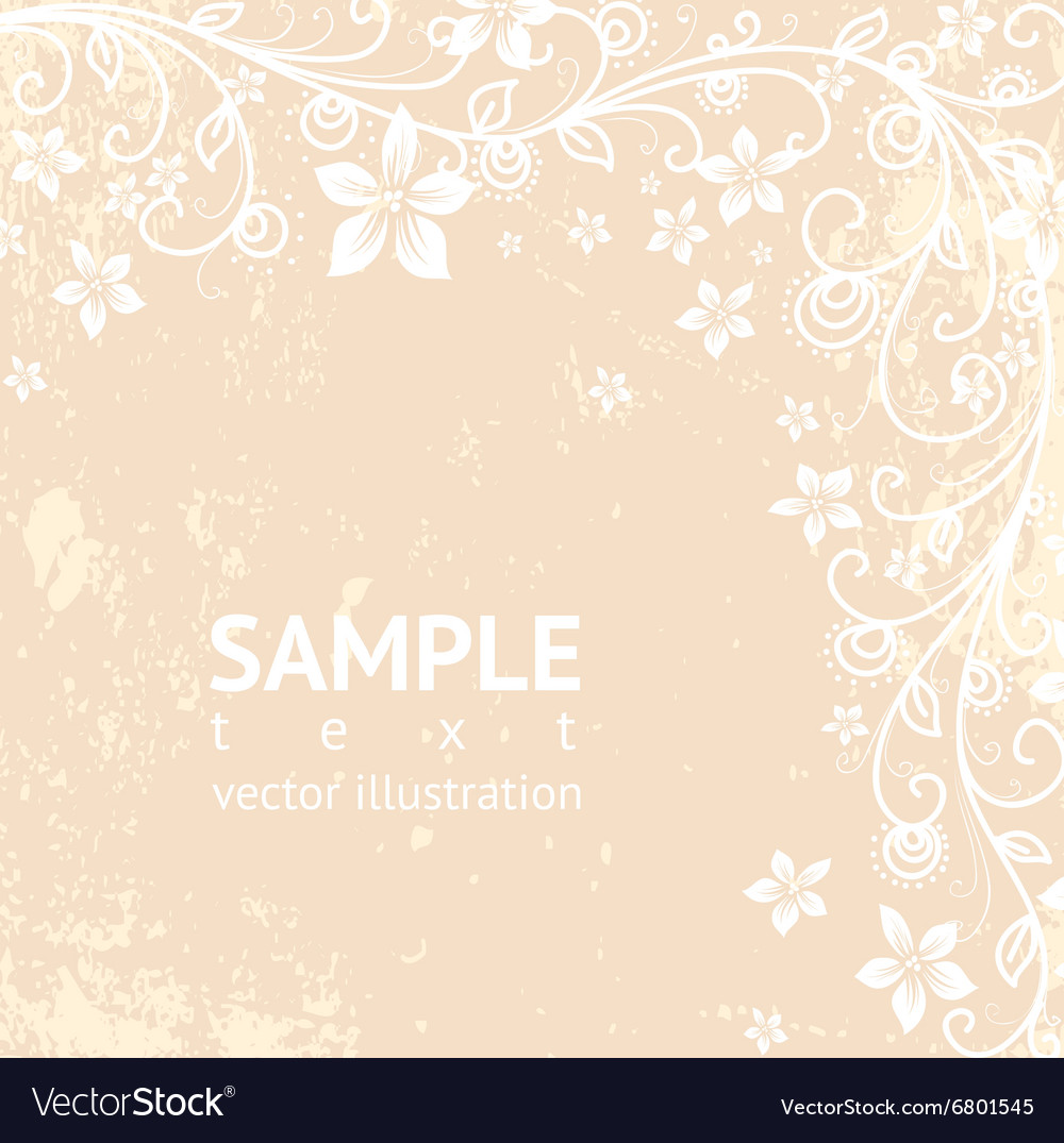 Rustic Floral Background Royalty Free Vector Image