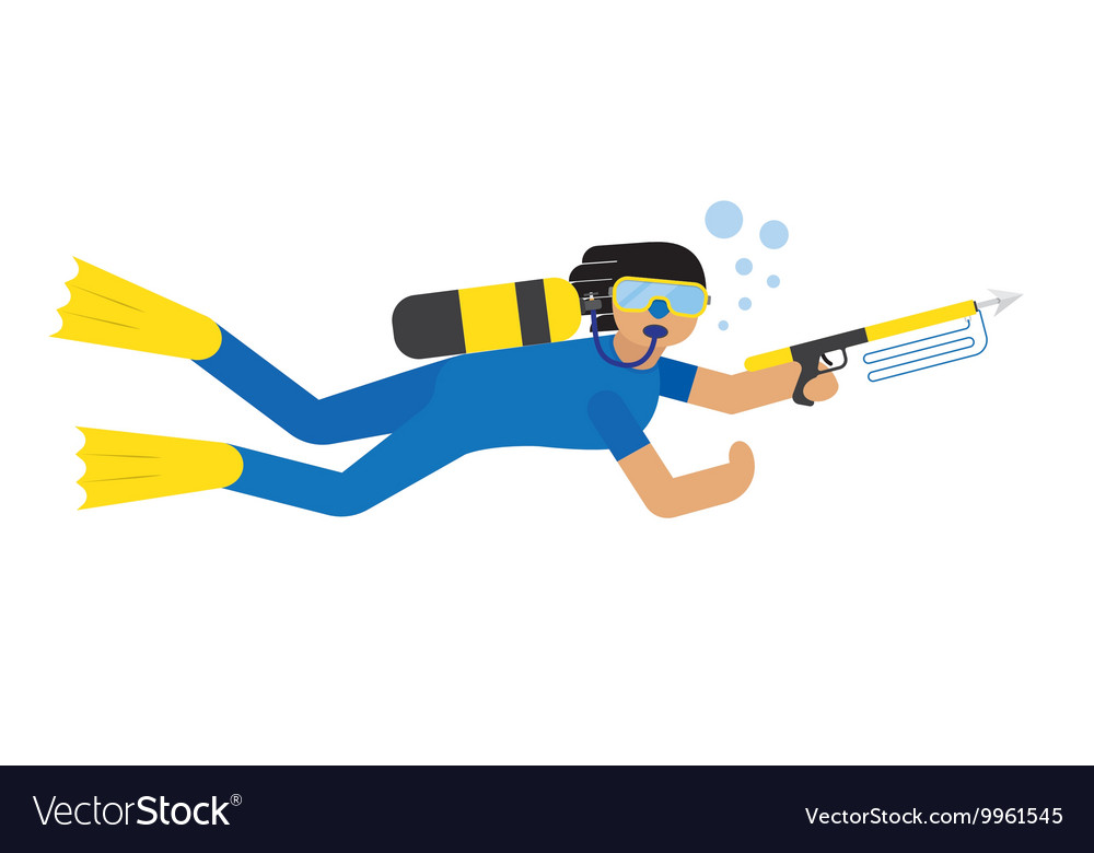 Scuba diver isolated vector image