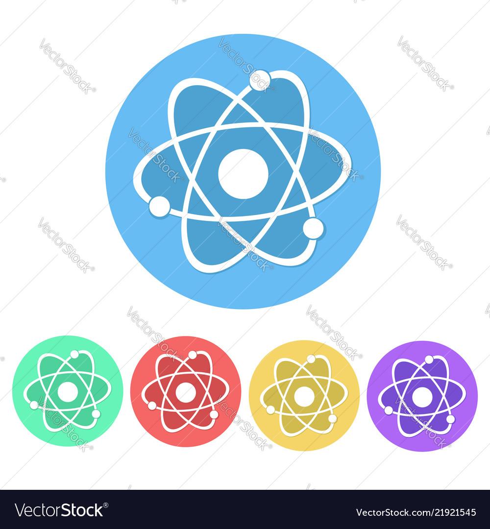 Set of molecule icon button stock