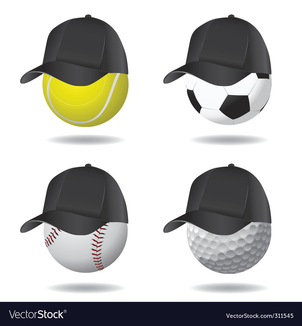 Sport ball with hat