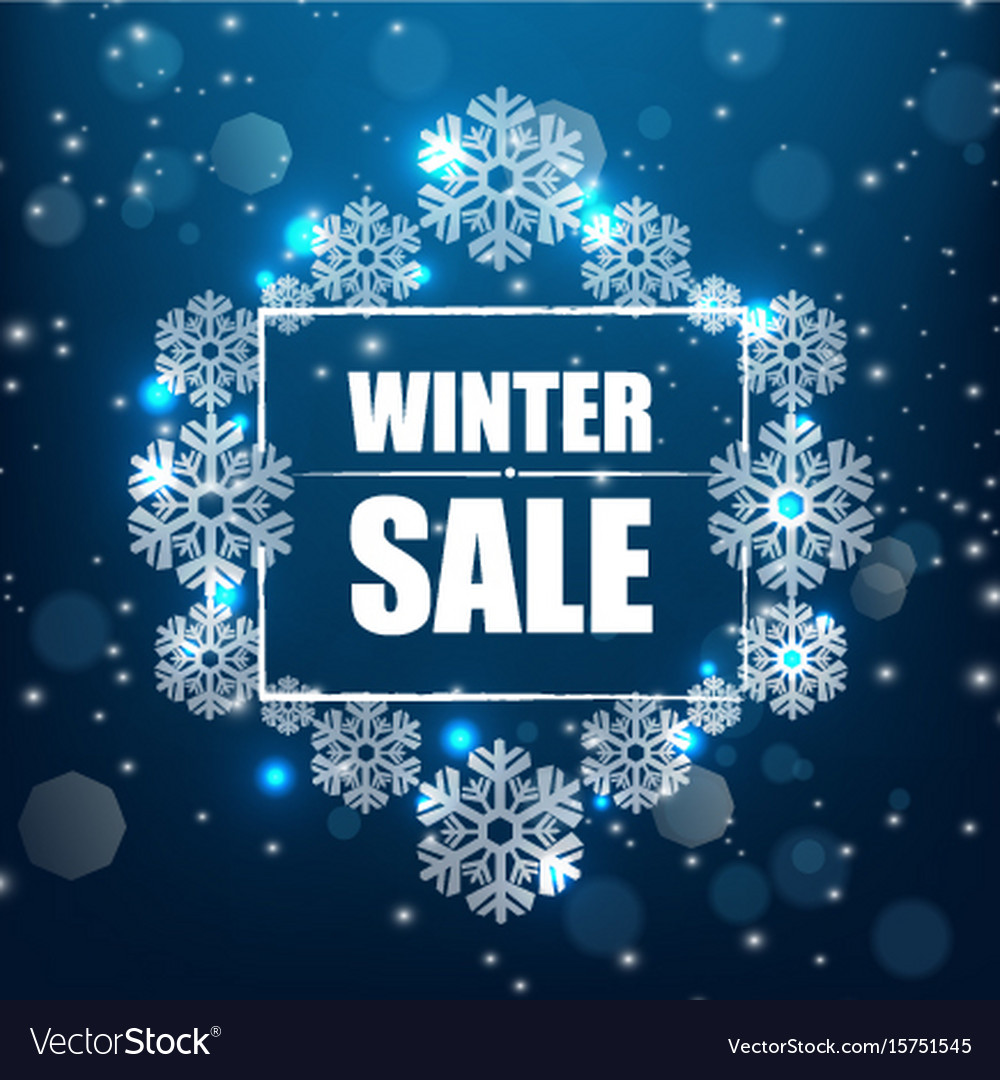 Winter Sale Banners Neon Light Banners