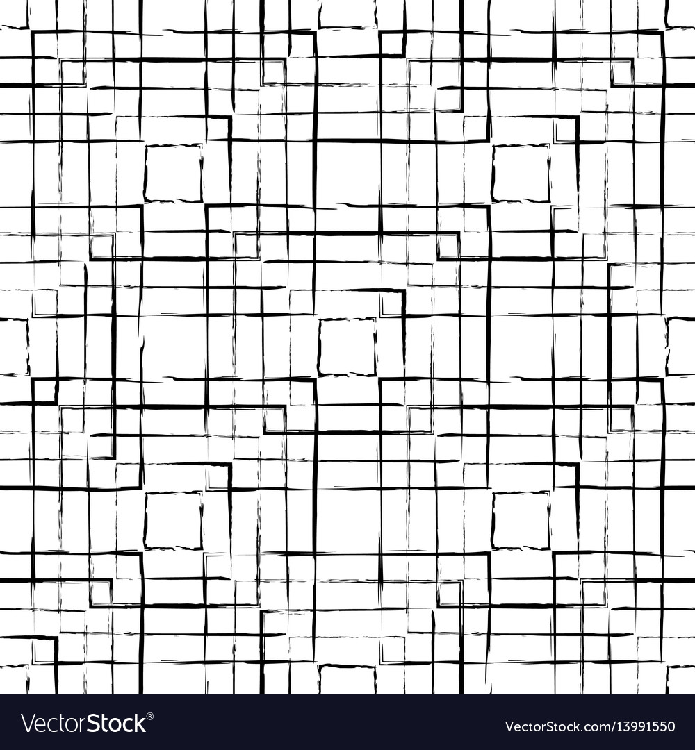 Abstract seamless pattern made with ink