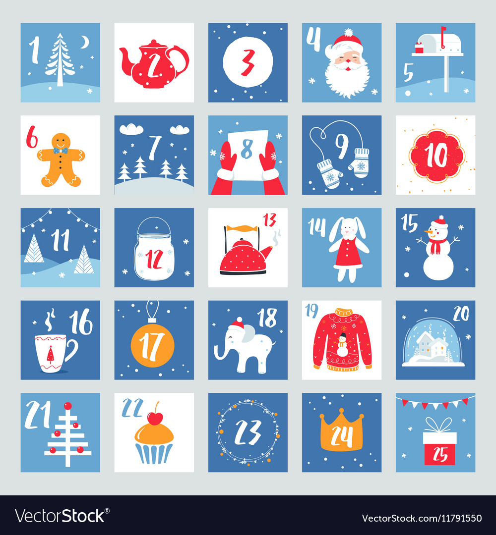 Christmas Countdown Calendar.Christmas Advent Calendar Countdown Poster