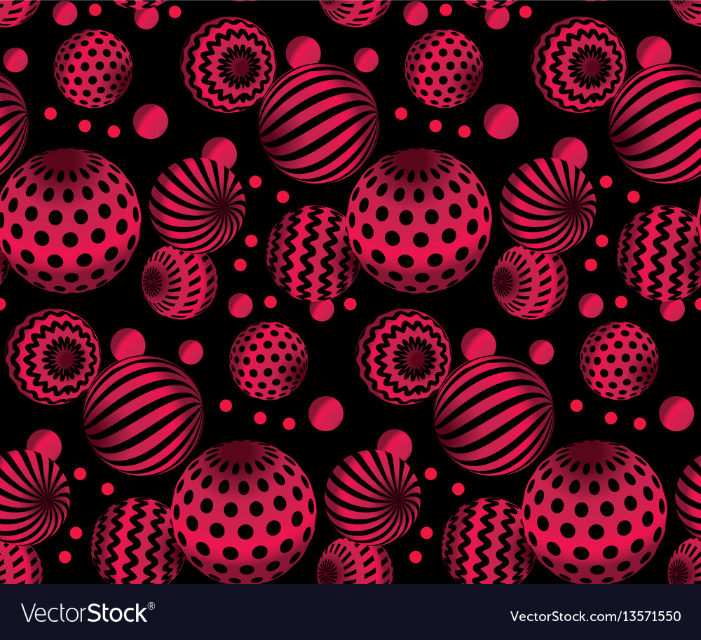 Circle red beads necklaces on black background