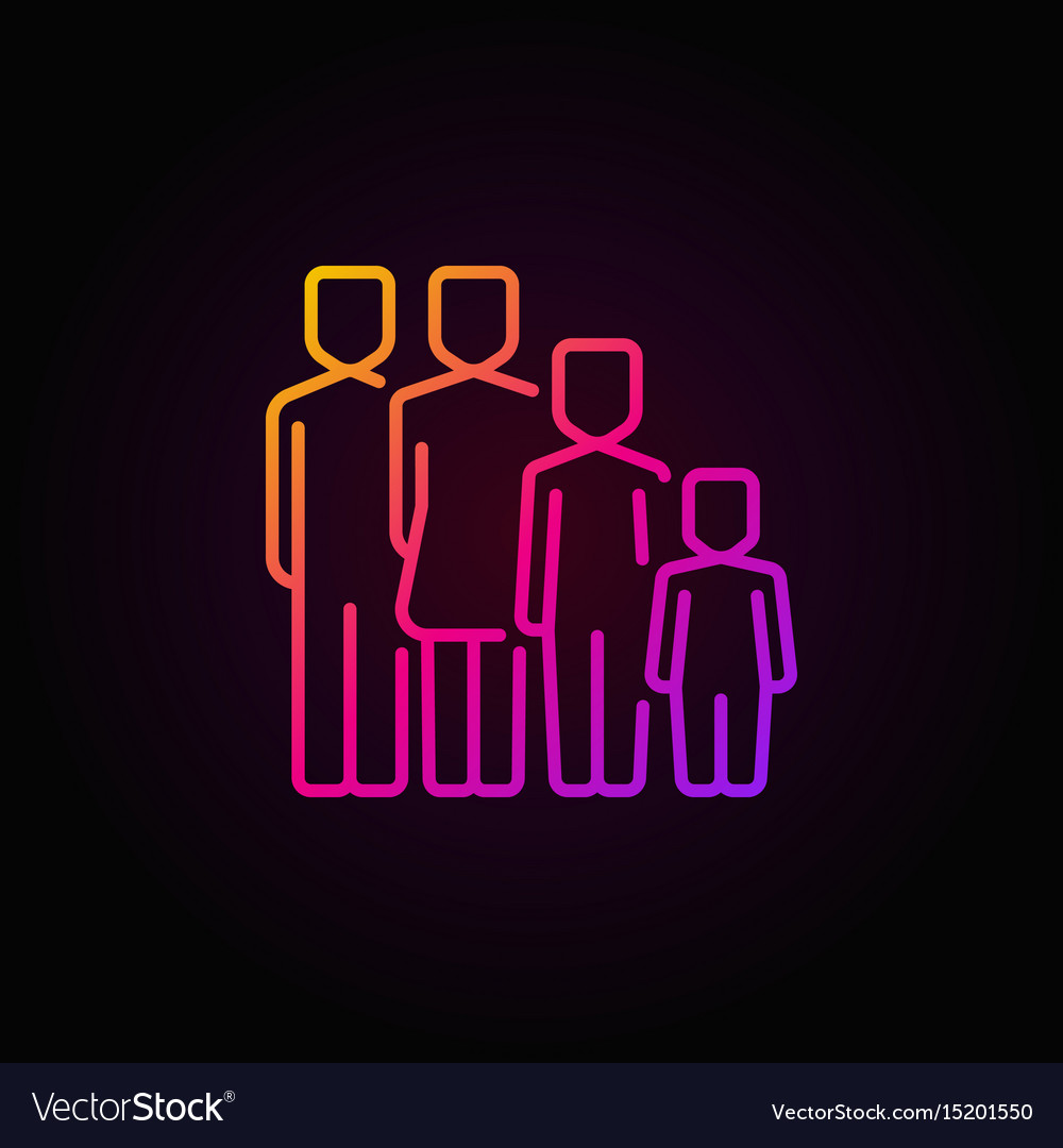 Colorful family concept icon