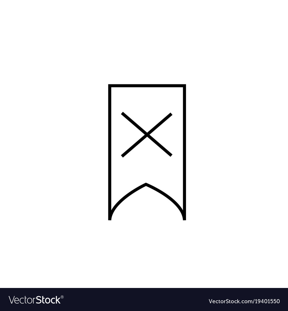 Deleted bookmark icon vector image
