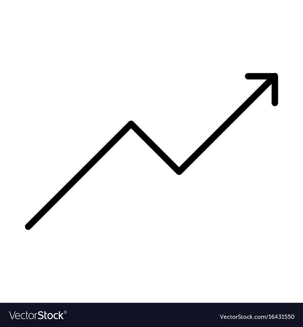 Growing business graph line icon
