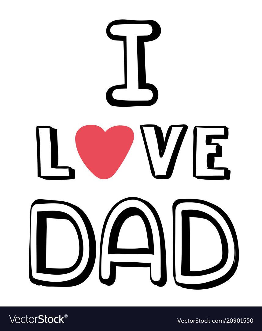 I love dad pink heart white background imag
