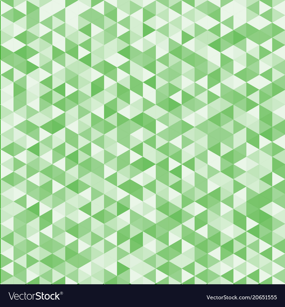 Abstract striped geometric triangle pattern green vector image