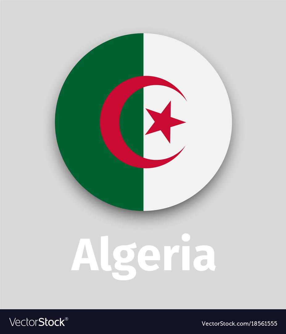 Algeria flag round icon