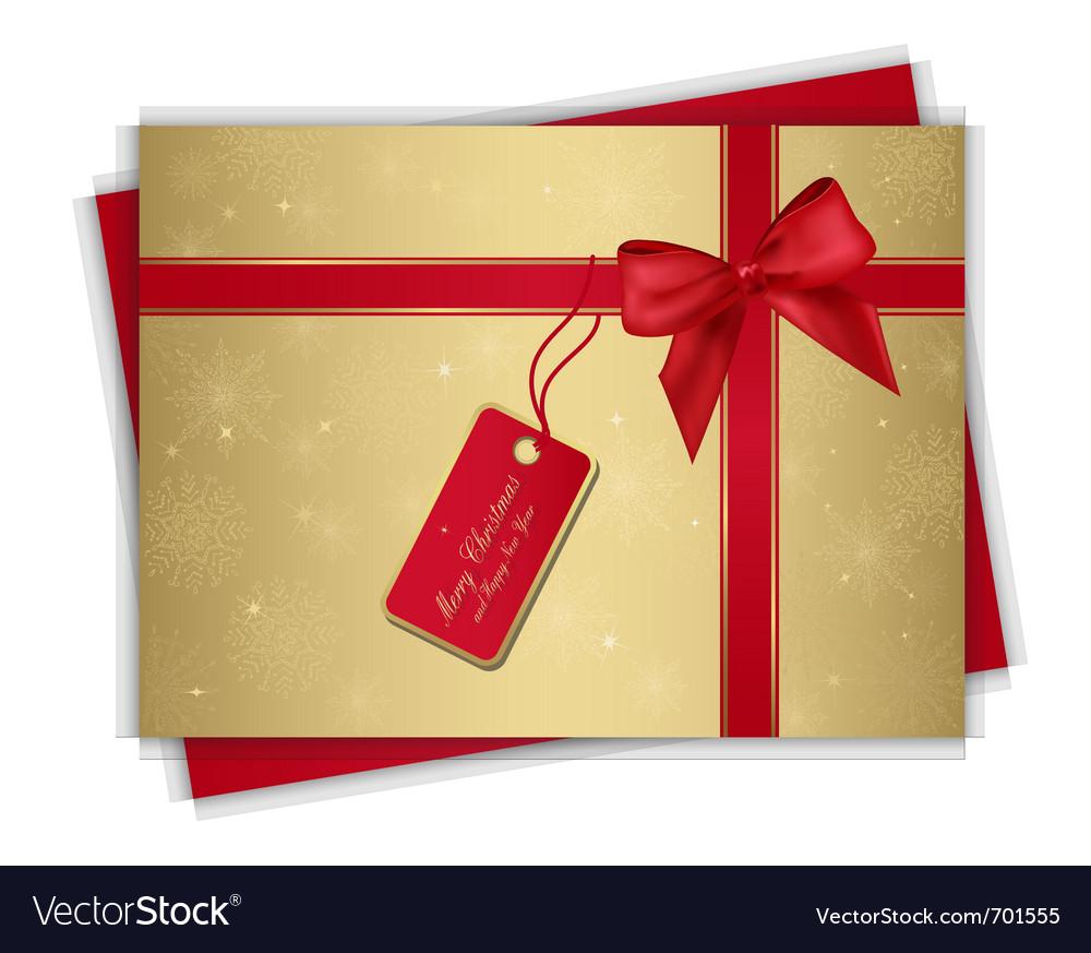 Christmas gift card Royalty Free Vector Image - VectorStock