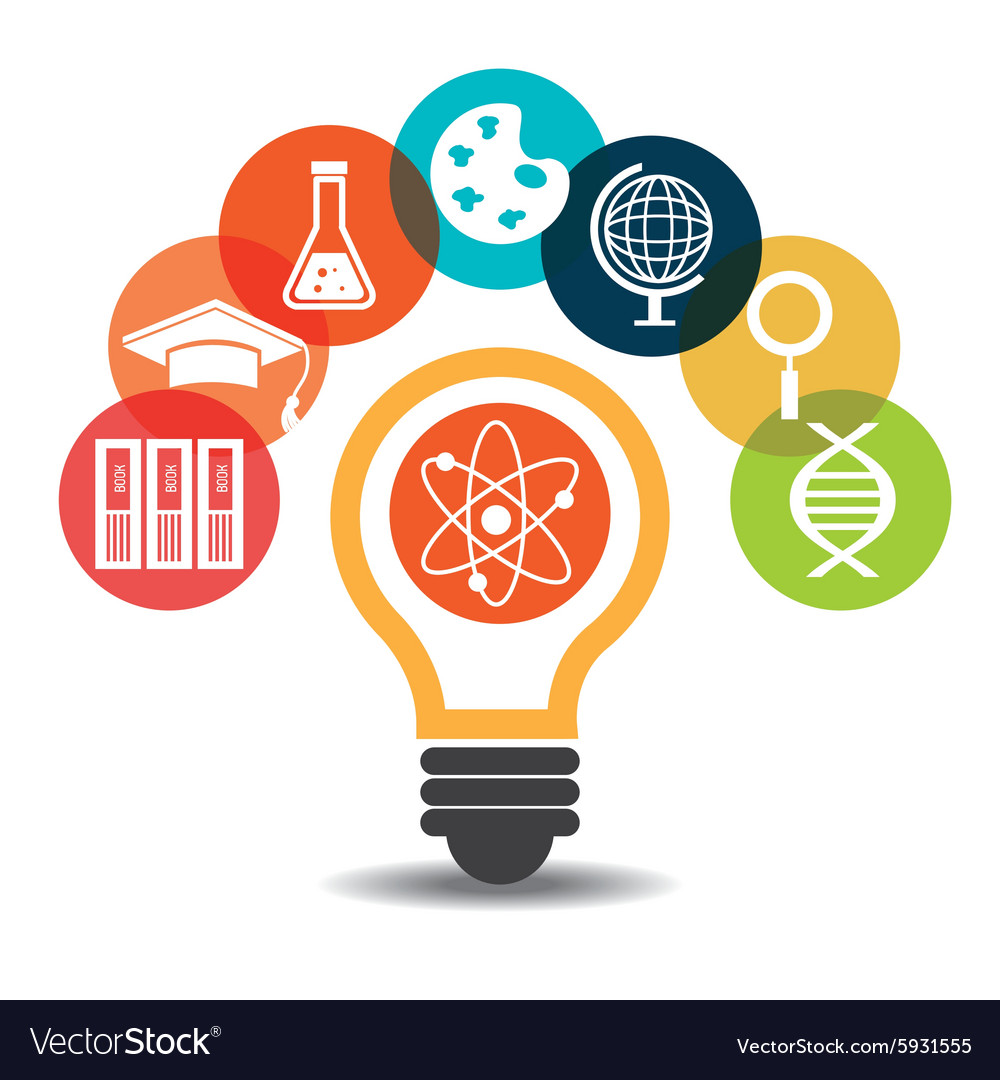Electronic Education Or E Learning Royalty Free Vector Image