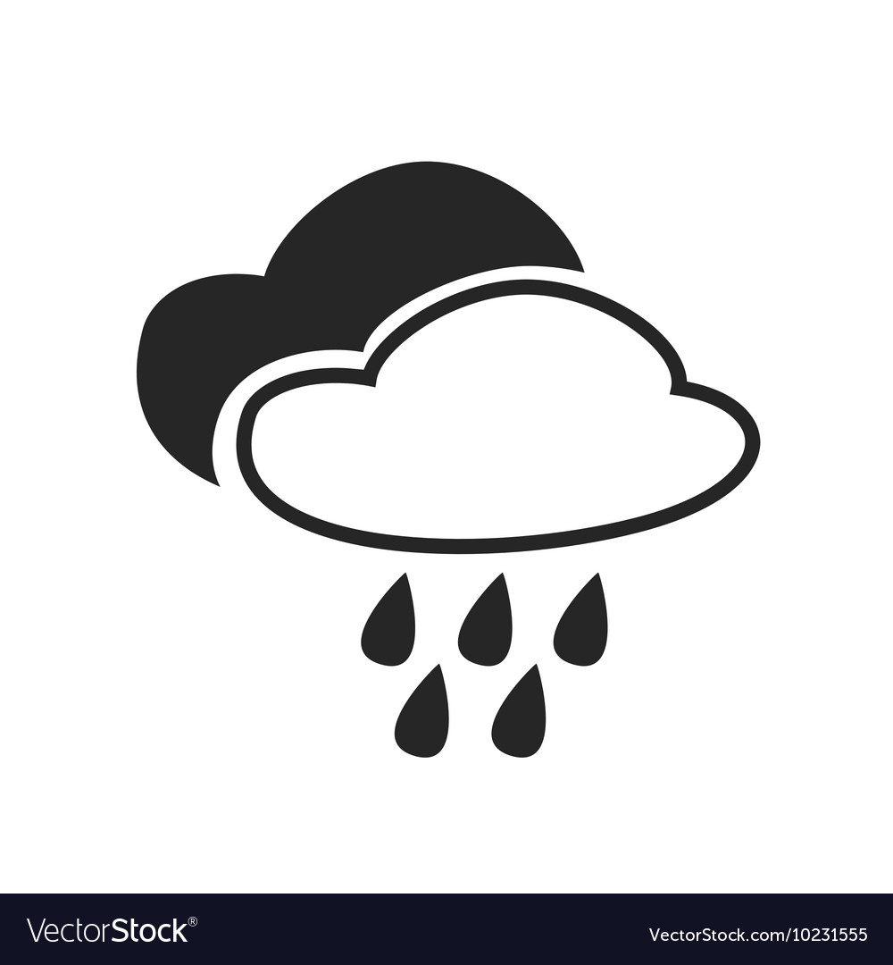 Heavy Rain Continuous Mist Fog Weather Forecast Vector Image