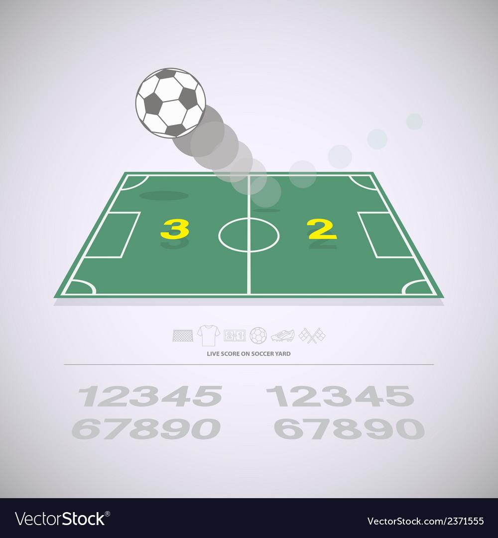 Live score on soccer yard